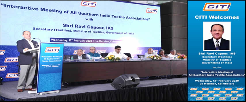 Interactive meeting of All Southern India Textile Associations
